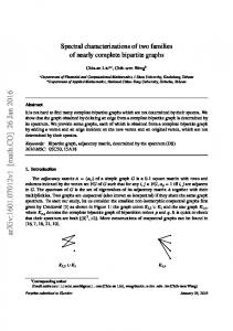 Spectral characterizations of two families of nearly complete bipartite ...