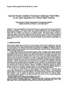 Spectral Domain Analysis of Gyrotropic Anisotropy Chiral Effect on the ...