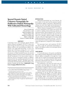 Spectral Domain Optical Coherence Tomography for ...