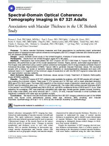 Spectral-Domain Optical Coherence Tomography Imaging in 67 321 ...