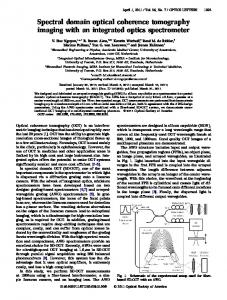 Spectral domain optical coherence tomography ... - OSA Publishing