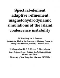 Spectral-element adaptive refinement magnetohydrodynamic ...