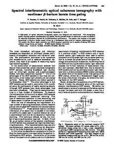 Spectral interferometric optical coherence tomography with nonlinear ...