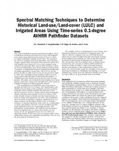 Spectral Matching Techniques to Determine Historical ... - CiteSeerX