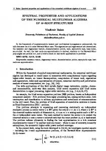 SPECTRAL PROPERTIES AND APPLICATIONS OF THE ... - CiteSeerX