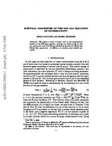 Spectral properties of the BCS gap equation of superfluidity