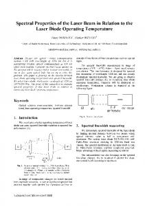Spectral Properties of the Laser Beam in Relation to ...
