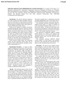 SPECTRAL REFLECTANCE PROPERTIES OF ...