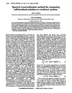 Spectral renormalization method for computing self-localized ...