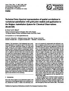 Spectral representation of spatial correlations in variational