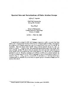 Spectral Sets and Factorizations of Finite Abelian Groups