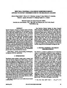 SPECTRAL-TEMPORAL ANALYSIS BY RESPONSE ... - IEEE Xplore