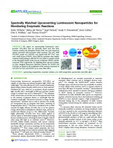Spectrally Matched Upconverting Luminescent Nanoparticles for ...