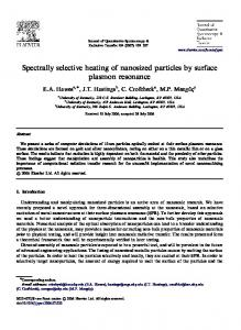 Spectrally selective heating of nanosized particles by surface plasmon