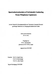 Spectroelectrochemistry of Intrinsically Conducting ... - Monarch: Qucosa