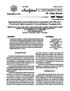 Spectrophotometric and synthesis study of