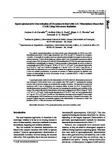 Spectrophotometric Determination of Chromium in