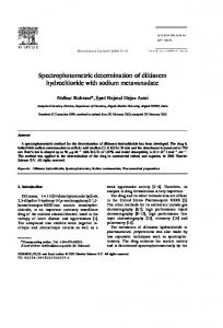 Spectrophotometric determination of diltiazem