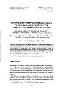 spectrophotometric determination of phenols and ... - Semantic Scholar