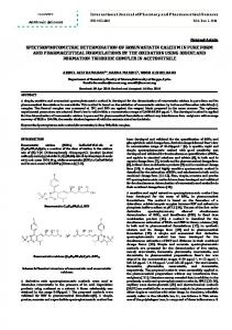 spectrophotometric determination of rosuvastatin