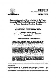 Spectrophotometric Determination of the Trace Amount of Thallium in ...