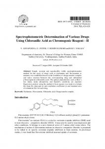 Spectrophotometric Determination of Various Drugs Using ... - Hindawi