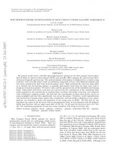 Spectrophotometric investigations of Blue Compact Dwarf Galaxies ...