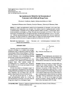 Spectrophotometric Method for the Determination ... - Semantic Scholar