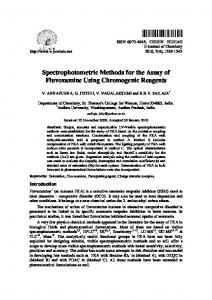 Spectrophotometric Methods for the Assay of ...