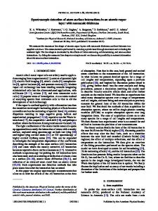 Spectroscopic detection of atom-surface ... - APS Link Manager