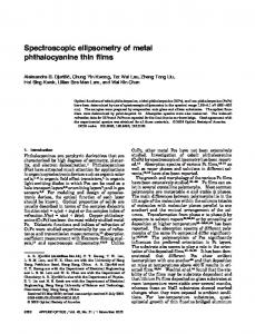 Spectroscopic ellipsometry of metal phthalocyanine thin films