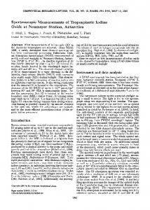 Spectroscopic measurements of tropospheric ... - Wiley Online Library