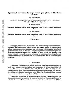 Spectroscopic observations of a sample of dwarf spiral galaxies. II ...