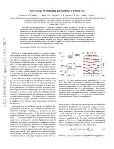 Spectroscopy of interacting quasiparticles in trapped ions