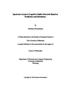 Spectrum Access in Cognitive Radio Networks Based ...