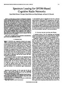 Spectrum Leasing for OFDM-Based Cognitive Radio ... - IEEE Xplore