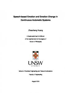 Speech-based Emotion and Emotion Change in