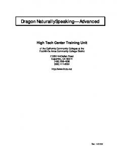 Speech Recognition Training Manual