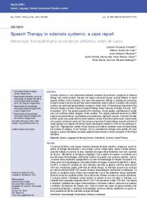 Speech Therapy in sclerosis systemic: a case report - SciELO