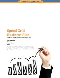 Speed Grill Business Plan