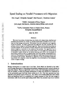 Speed Scaling on Parallel Processors with Migration