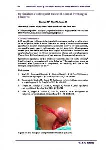 Spermatocele Infrequent Cause of Scrotal Swelling in Children