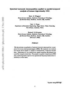 Spherical harmonic decomposition applied to spatial-temporal