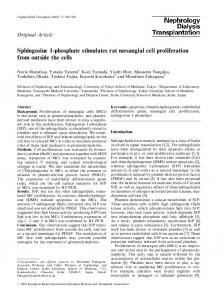 Sphingosine 1-phosphate stimulates rat mesangial cell proliferation ...