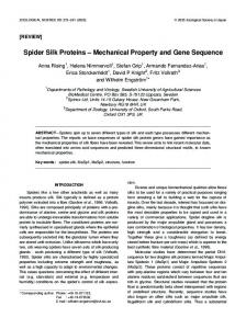 Spider Silk Proteins - BioOne