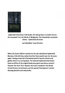 Spiderwick Chronicles: Field Guide; the Seeing Stone; Lucinda's ...