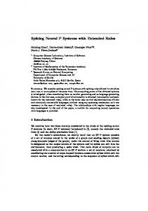 Spiking Neural P Systems with Extended Rules - Research Group on