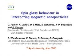 Spin glass behaviour in interacting magnetic nanoparticles
