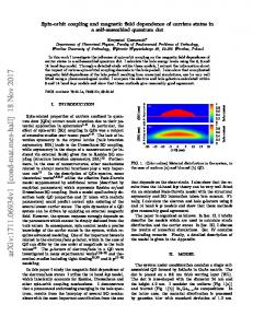 Spin-orbit coupling and magnetic field dependence of carriers states ...