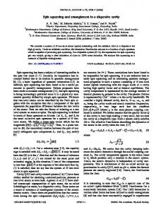 Spin squeezing and entanglement in a dispersive ... - APS Link Manager